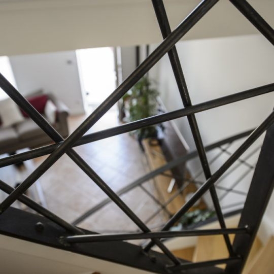 rampe escalier design en acier