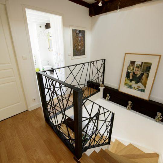 escalier garde-corps moderne en fer