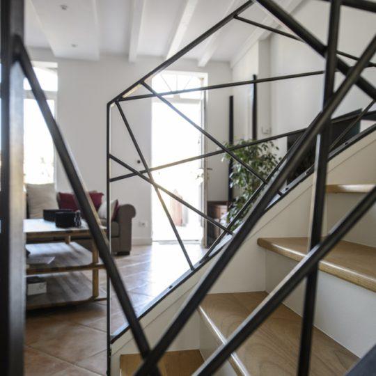 garde corps en metal pour escalier