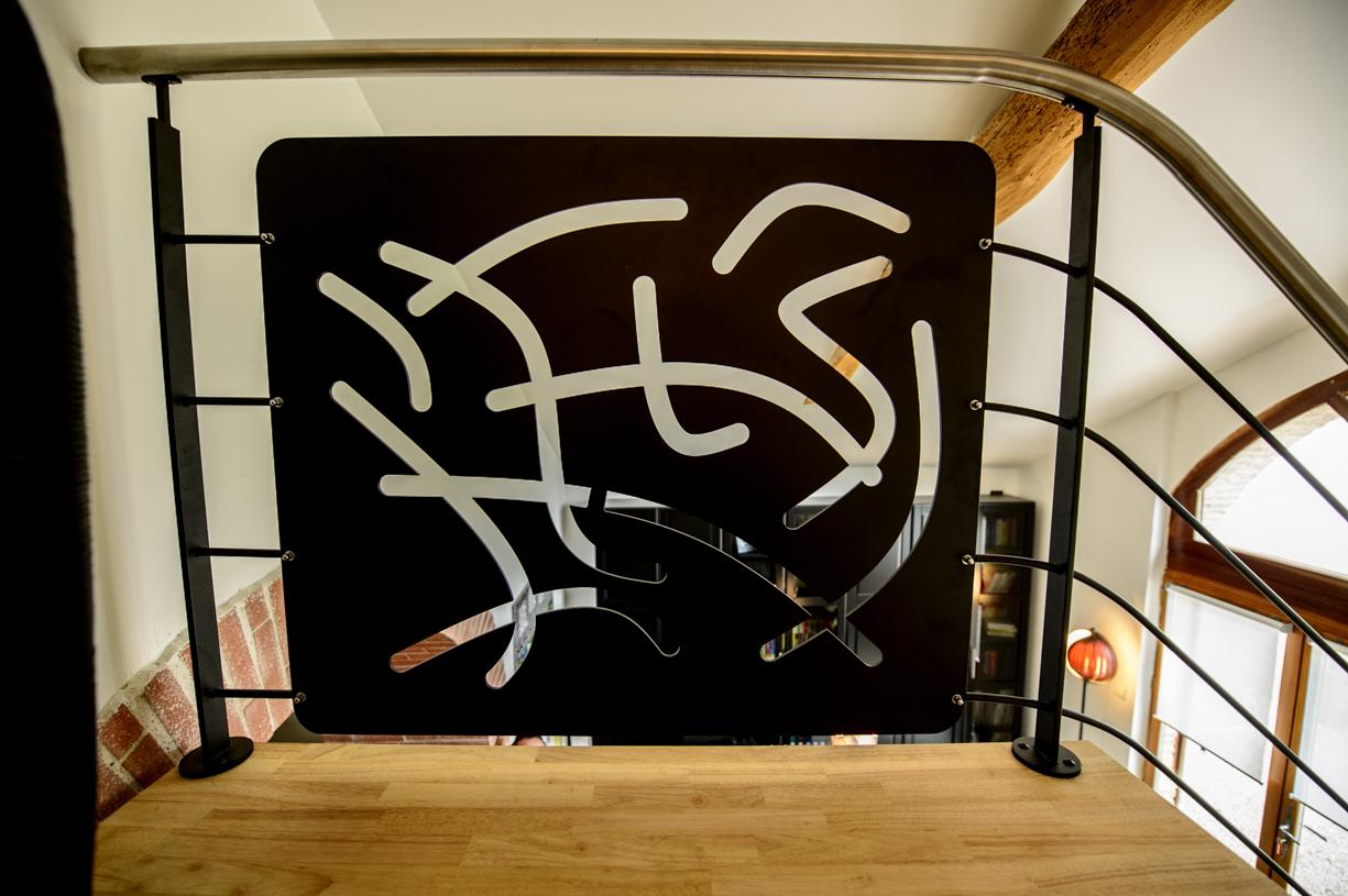 garde corps pour escalier en metal design