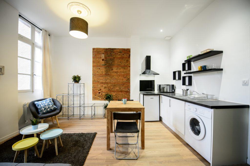 appartement moderne cuisine salon renovation